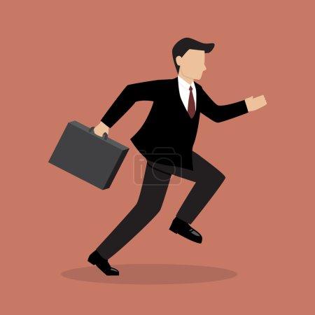 Business Man Runnung
