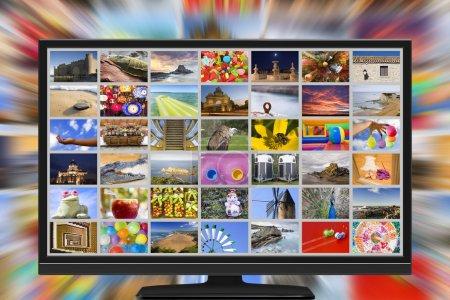 Photo pour Bradcasting TV ultra haute définition - image libre de droit
