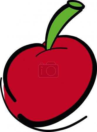 Photo for Hand drawn Red Cherry fruit vector illustration - Royalty Free Image