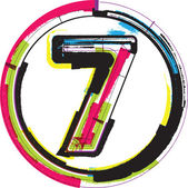 Colorful Grunge Font NUMBER 7
