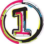 Colorful Grunge Font NUMBER 1