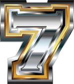 Fancy font Number 7