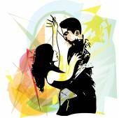 Latino Dancing couple