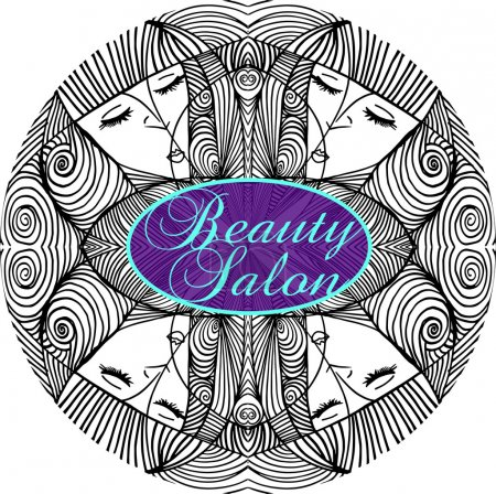 Illustration for Beauty Salon Cover with Abstract beautiful woman face illustration on the background - Royalty Free Image