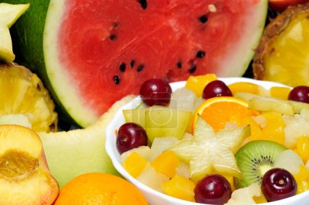 Photo for Bright fresh various effective fruits closeup - Royalty Free Image