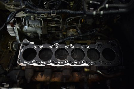 car engine close-up