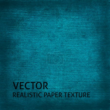 Illustration for Blue textured paper vector background. Grunge paper texture for your design. - Royalty Free Image
