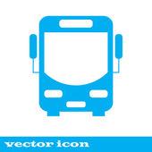 Autobus vektorové ikony. modré ikony