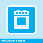Kamna vektorové ikony. vařič ikona. modré ikony
