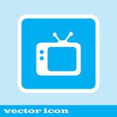 TV vektorové ikony. Retro tv ikona. modré ikony