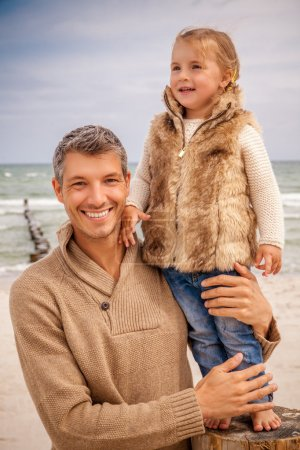 Photo for Pride fatherhood taking walk with daughter - Royalty Free Image