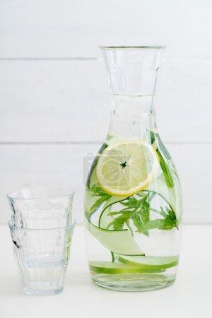 grün, weiß, Glas, Sommer, Wasser, Essen - B80214852