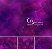 Polygonal crystal abstract background Each background separately on different layers  Available in 4 variants and created in RGB mode