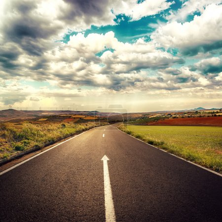 Asphalt road concept