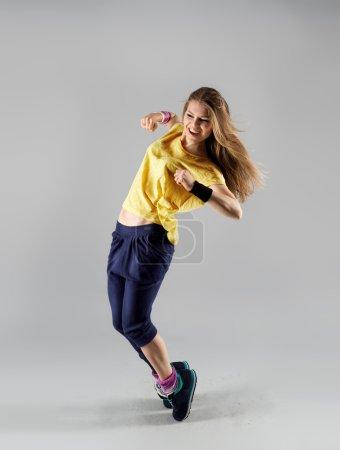 Zumba aerobics woman