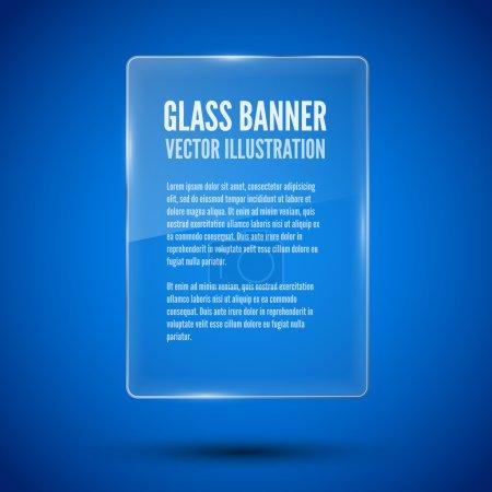 Illustration pour Modèle de bannière en verre, cadre de transparence. Illustration vectorielle . - image libre de droit