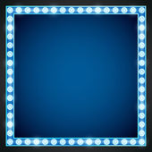 Blue gold colored vector retro looks frame template Lamps lighted vector illustration