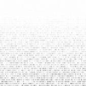 Gradient fall off binary code screen listing table cypher white vector background