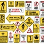 Funny Zombie Apocalypse Signs, Symbols and Billboa...