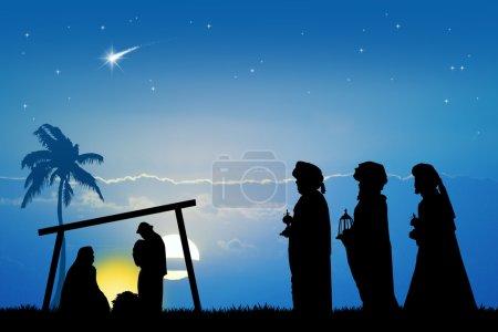 Photo pour Silhouette de trois sages - image libre de droit
