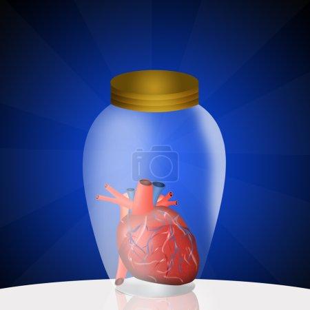 Photo pour Illustration du don d'organes - image libre de droit