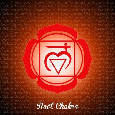 Illustration of root chakra...