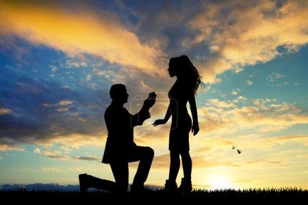 proposition de mariage pour la femme