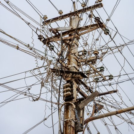 Messy electrical cables in india.