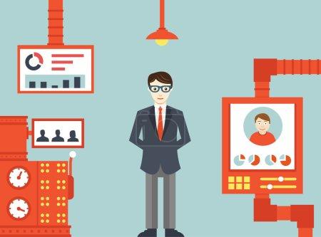 Ilustración de Sistema de gestión de recursos humanos - ilustración vectorial - Imagen libre de derechos