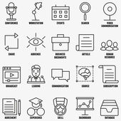 Vector set linear business education icons - part 1 - vector icons