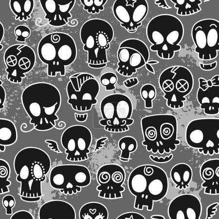wzór ładny czaszki