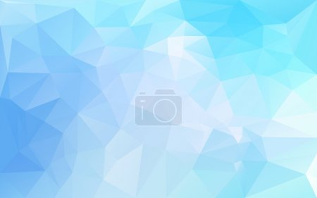 Abstract poligonal background in blue tones...