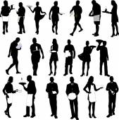 waiters and waitresses silhouette big collection