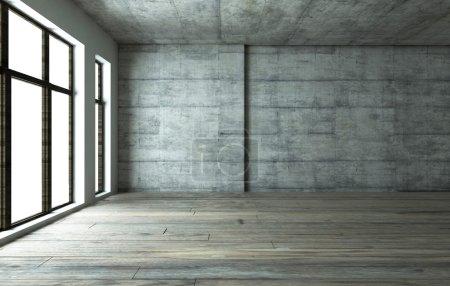 Photo for Dark blank interior scene concrete wall - Royalty Free Image