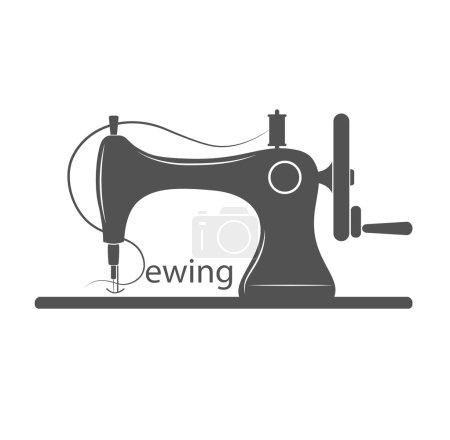 Sewing Machine Logo - vector symbol or icon