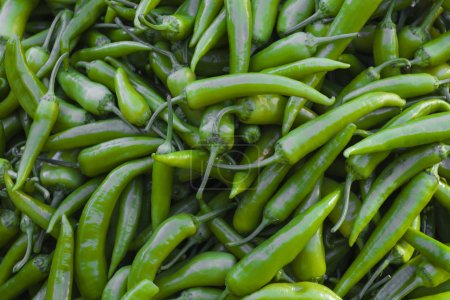 Green chillies background
