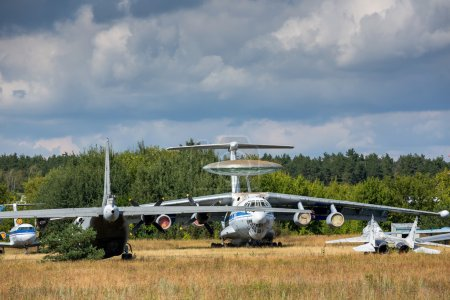 Old aircrafts on the abandoned aerodrome