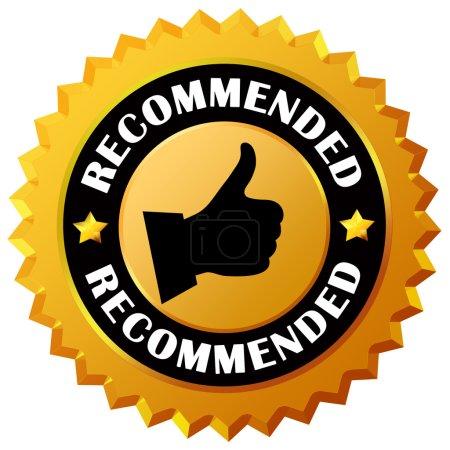 Photo pour Recommandé icône isolé sur fond blanc - image libre de droit