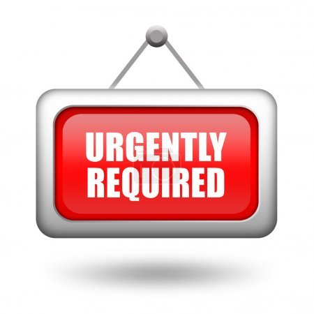 Photo pour Illustration de requis de toute urgence signe isolé sur fond blanc - image libre de droit