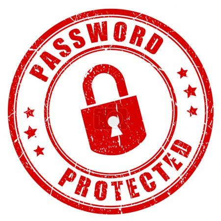 Password protected rubber stamp