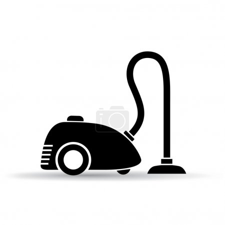 Vacuum cleaner vector pictogram
