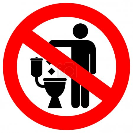 No littering in toilet sign