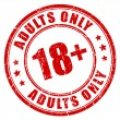 Under 18 years rubber stamp, adults only, vector i...