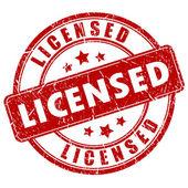 Licensed vector stamp