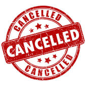Cancelled vector stamp