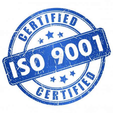 Iso 9001 certified icon isolated on white backgrou...