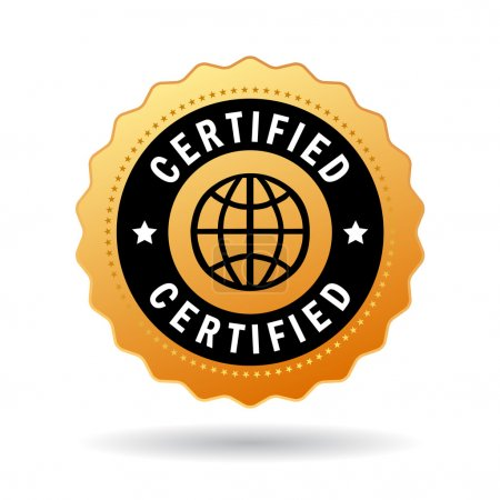 Illustration for Certified seal icon isolated on white background - Royalty Free Image