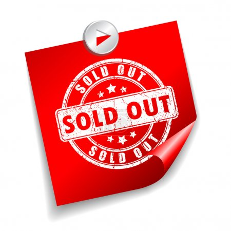Illustration for Sold out sticker isolated on white background - Royalty Free Image