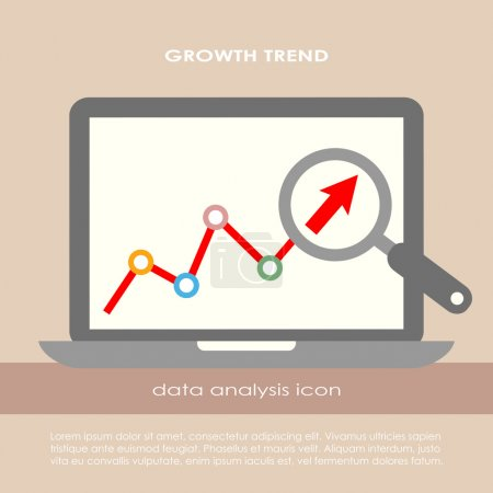 Illustration for Data analysis vector poster - Royalty Free Image