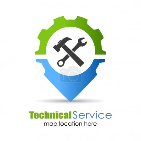 Technical service pin